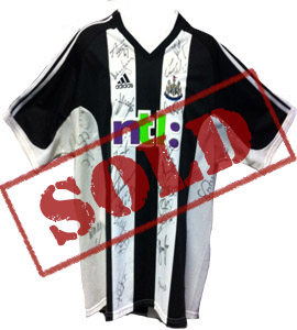 Newcastle United 2002/03 Home Strip (Signed)