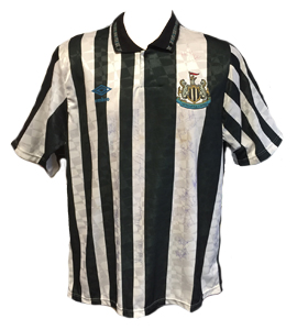 Newcastle United 1990/91 Home Shirt (Signed)