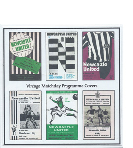 Newcastle United Vintage Programme (Greeting Card)