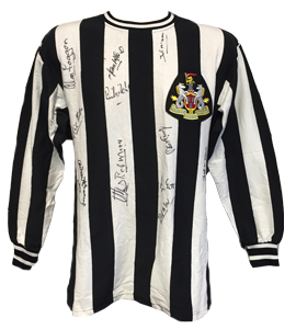 Newcastle United 1969 Fairs Cup Replica Shirt (Signed)