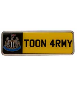 Newcastle United F.C. Number Plate Badge