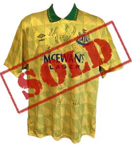 Newcastle United 1992/93 Away Shirt (Signed)