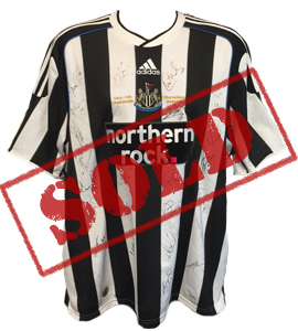 Newcastle United 2009/10 Championship Winners Shirt (Signed)