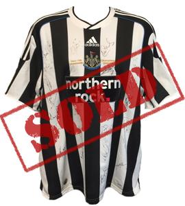 Newcastle United 2009/10 Championship Winners Shirt (Signed)