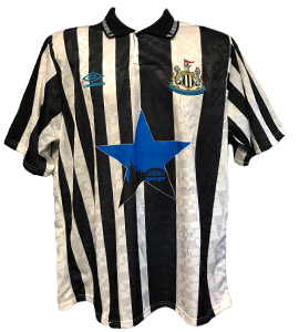 Newcastle United 1992/93 Home Strip (Signed)