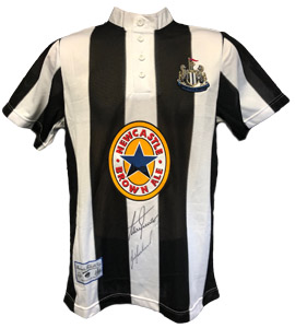 Newcastle United 1996/97 Home Strip (Signed)