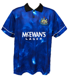 Newcastle United 1993-95 Official Retro Away Shirt