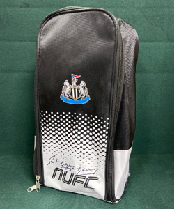 Newcastle United Official Boot Bag Signed by Gazza