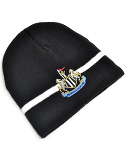 Newcastle United Official Knitted Beanie Hat Black