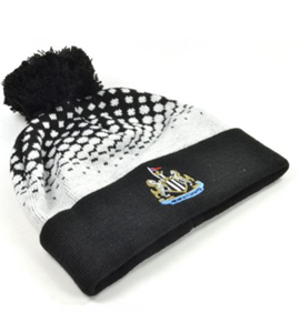 Newcastle United Official Fade Design Bobble Hat Black
