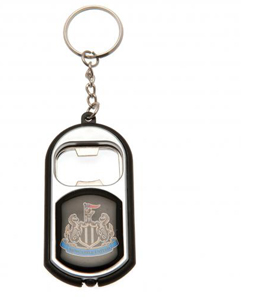 Newcastle United Torch Light Bottle Opening Key Ring