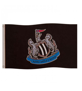 Newcastle United FC Official Club Crest Flag
