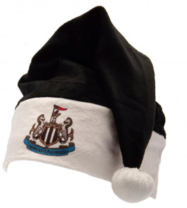 Newcastle United FC Official Black & White Santa Hat