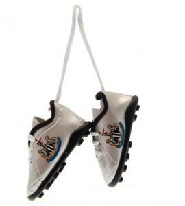 Newcastle United FC Official Car Hang Up Mini Football Boots