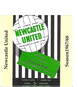 Newcastle United 1967/68 Football Programme (Ceramic Coaster)