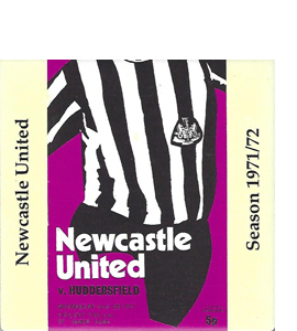 Newcastle United 1971/72 Football Programme (Ceramic Coaster)