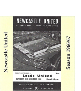 Newcastle United 1966/67 Football Programme (Ceramic Coaster)