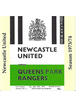 Newcastle United 1973/74 Football Programme (Ceramic Coaster)