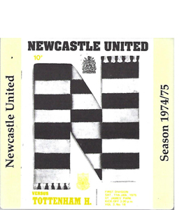 Newcastle United 1974/75 Football Programme (Ceramic Coaster)