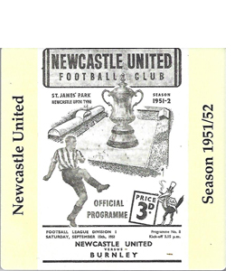 Newcastle United 1951/52 Football Programme (Ceramic Coaster)