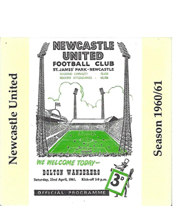 Newcastle United 1960/61 Football Programme (Ceramic Coaster)