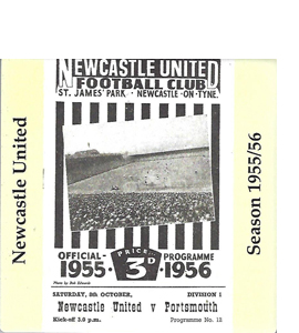 Newcastle United 1955/56 Football Programme (Ceramic Coaster)