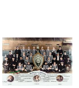 Newcastle United Squad 1907/08 League Champions 1907 (Print)