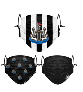 Newcastle United FC 3pk Face Coverings Adults
