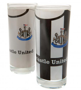 Newcastle United FC 2pk High Ball Glasses