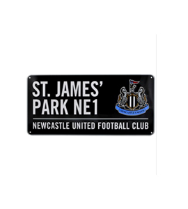Newcastle United: Black St James Park Street Sign