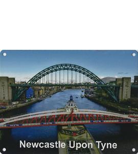 Newcastle Upon Tyne Swing Bridge Tyne Bridge (Metal Sign)