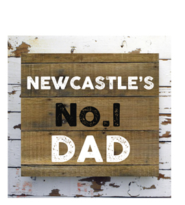 Newcastle's No.1 Dad (Greetings Card)
