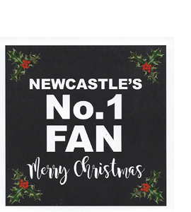 Newcastle's No.1 Fan Merry Christmas (Greetings Card)