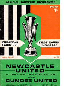 Newcastle v Dundee United 69/70 Fairs Cup (Programme)