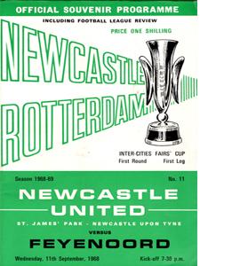Newcastle v Feyenoord 68/69 Fairs Cup (Programme)