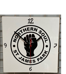 Northern Soul St James Park Hand Made Wooden Wall Clock