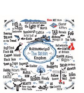 Northumberland The Secret Kingdom (Greetings Card)