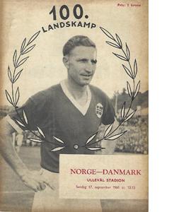 Norway v Denmark 1961 International Match (Programme)