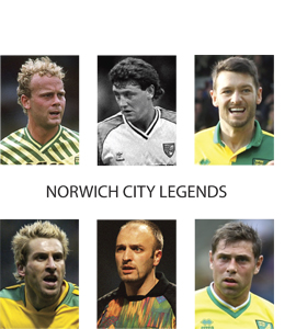 Norwich City Legends (Greetings Card)