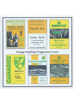 Norwich City Vintage Programme (Greeting Card)