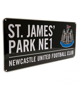 Official Newcastle United Street Sign (Black)