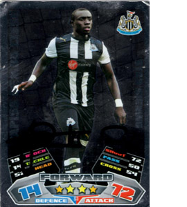 Papiss Cisse Newcastle United Match Attax Trade Card (Signed)