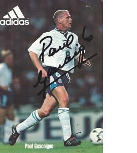 Paul Gascoigne England Sponsor Card (Signed)