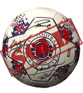 "Paul ""Gazza"" Gasccoigne Rangers Football (Signed)"