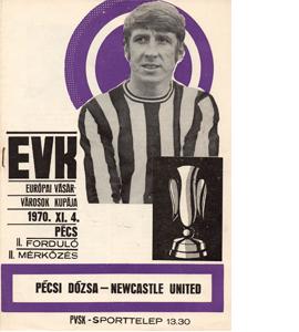 Pecsi Dozsa v Newcastle Utd 70/71 Fairs Cup (Programme)