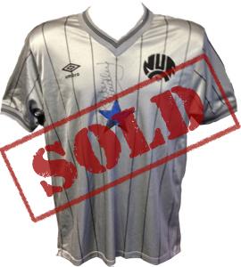 Peter Beardsley 1984 Newcastle United Away Shirt (Signed)
