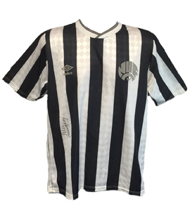 Peter Beardsley Newcastle Utd 1980's Shirt (Signed)