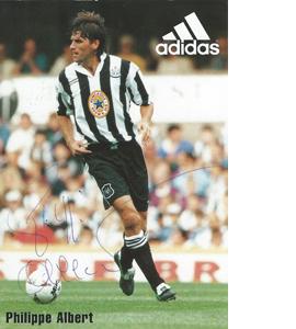 Philippe Albert Newcastle Sponsor Card  (Signed)