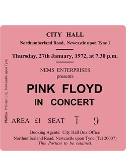 Pink Floyd City Hall Ticket (Coaster)