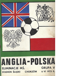 Poland v England 1973 World Cup Qualifier (Programme)